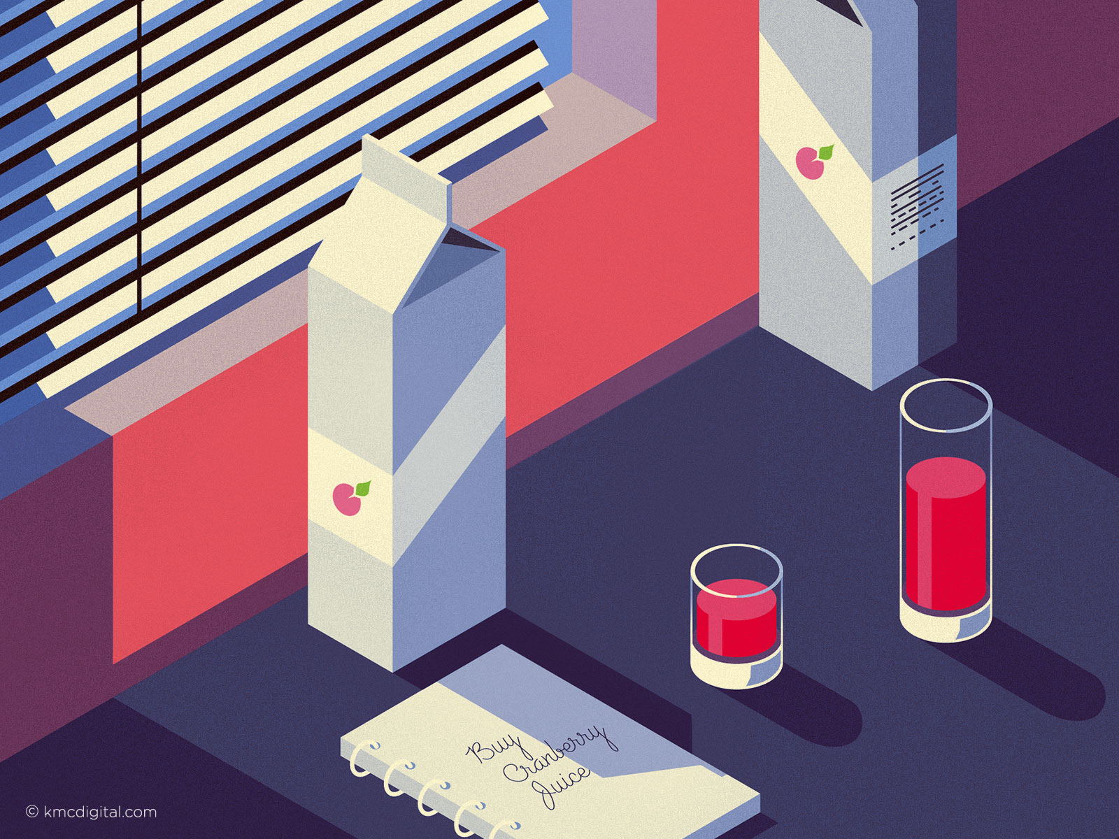 Cranberry Juice Illustration vignette