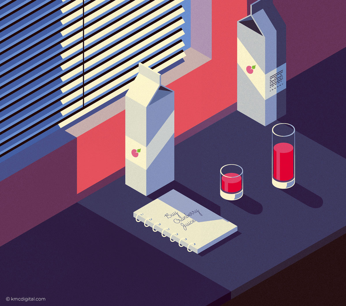 Cranberry Juice Illustration