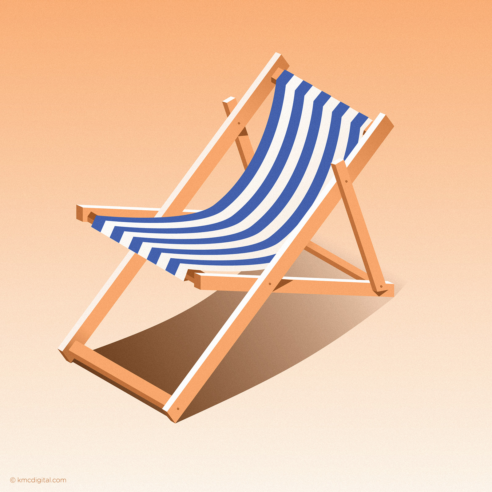 Deckchair Illustration vignette