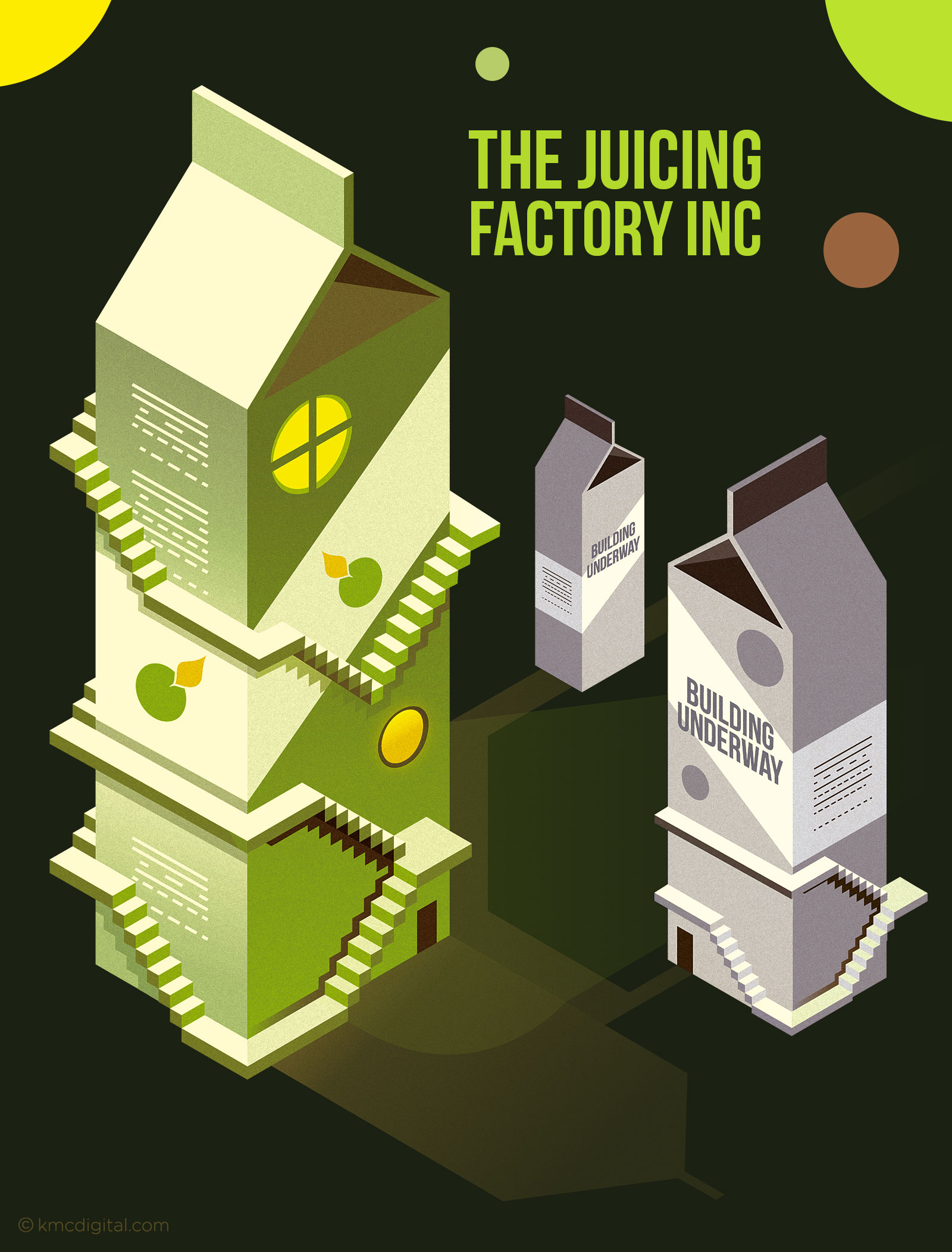 Juicing Factory Illustration