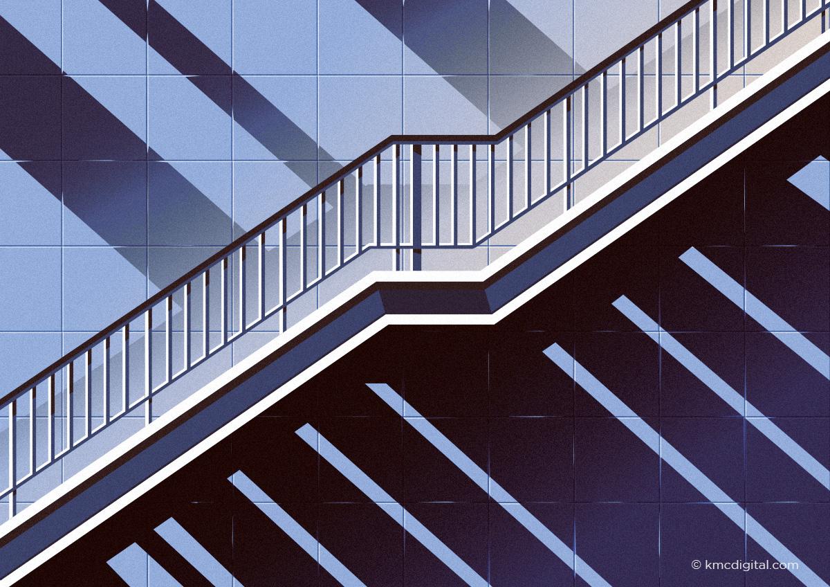 Staircase Illustration far view