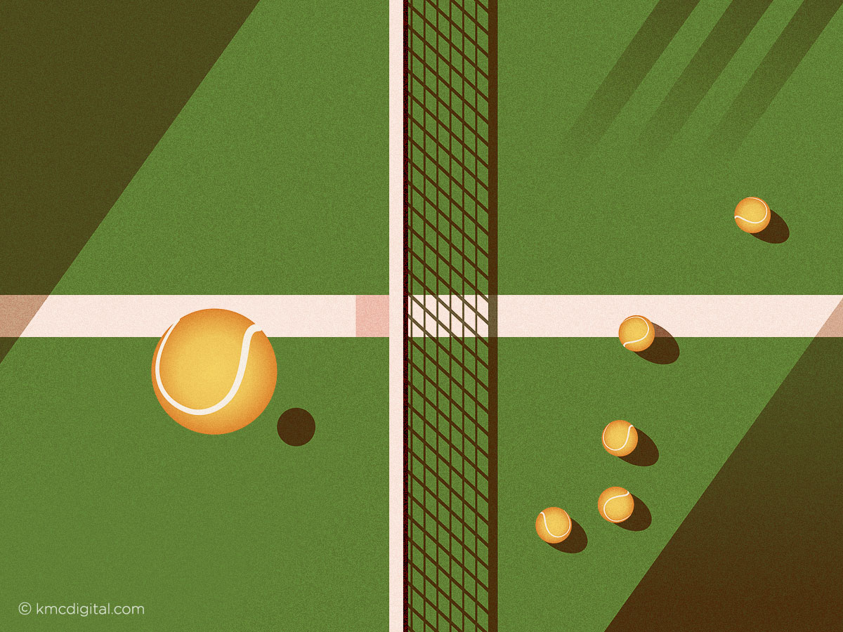 Tennis vector illustration