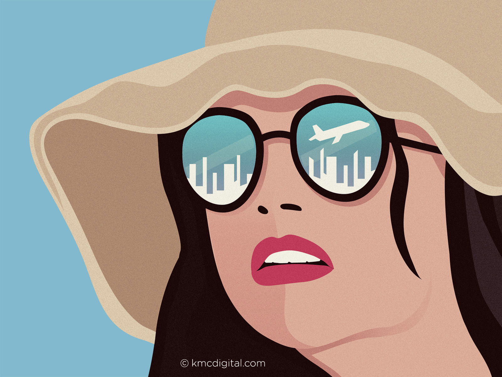 editorial illustration travel