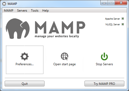 MAMP UI